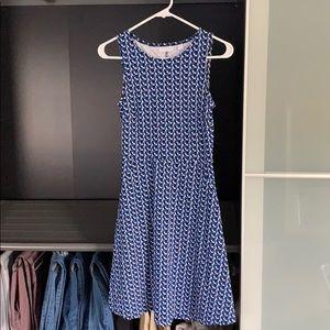 Navy blue patterned summer dress